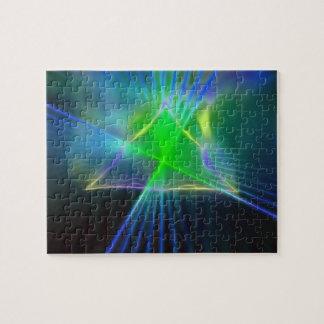 Abstrakter Pyramide-und Energie-Power Puzzle