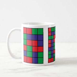 Abstrakter quadratischer Entwurf Kaffeetasse