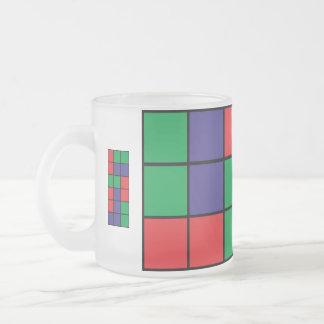 Abstrakter quadratischer Entwurf Mattglastasse