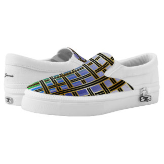 Abstrakter Regenbogen farbiges Criss Slip-On Sneaker