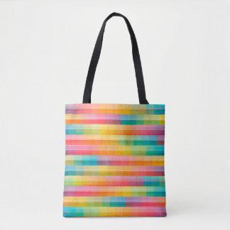 Abstrakter Regenbogen färbt Gitter-Hintergrund Tasche