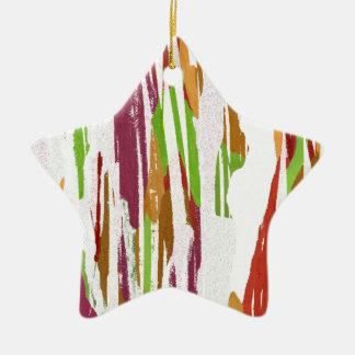 Abstrakter Regenbogen-Spritzen-Entwurf Keramik Stern-Ornament