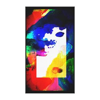 Abstrakter Regenbogen von Farben Leinwanddruck
