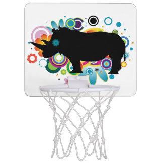 Abstrakter Rhino-Minibasketball-Ziel Mini Basketball Netz