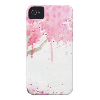Abstrakter rosa Baum des Watercolor, Kirschbaum Case-Mate iPhone 4 Hülle