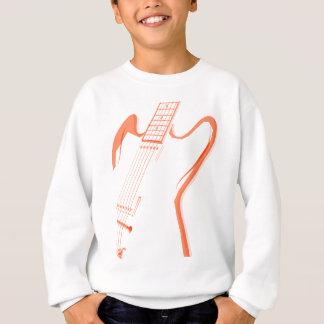 Abstrakter roter Gitarren-Hintergrund Sweatshirt
