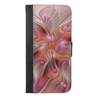 Abstrakter Schmetterlings-buntes iPhone 6/6s Plus Geldbeutel Hülle