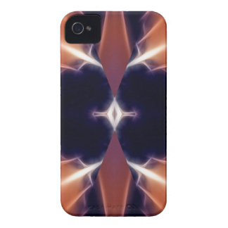 Abstrakter schwarzer brauner Entwurf iPhone 4 Cover