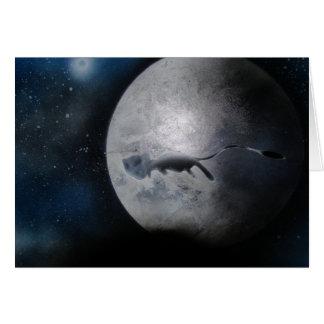 Abstrakter silberner Mond durch Bernardo Perales Karte