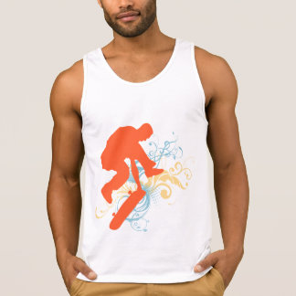 Abstrakter Skateboarding Tank Top