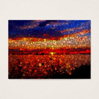 Abstrakter Sonnenuntergang Jumbo-Visitenkarten