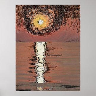 Abstrakter Sonnenuntergang Poster
