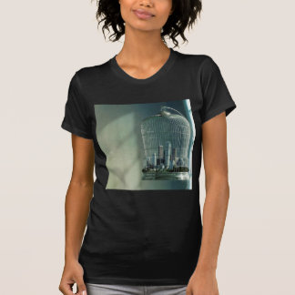 Abstrakter Stadt-Vogel-Käfig T-Shirt
