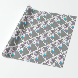 abstrakter Stern Geschenkpapier