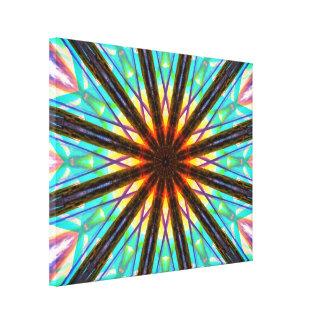 Abstrakter Stern Leinwanddruck