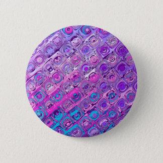 Abstrakter strukturierter bunter lila Muster-Knopf Runder Button 5,1 Cm