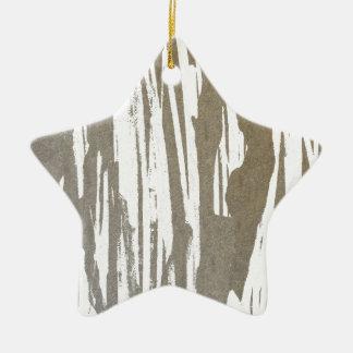 Abstrakter Taupe-Spritzen-Entwurf Keramik Stern-Ornament