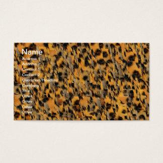 Abstrakter Tierdruck Visitenkarte
