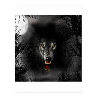 Abstrakter Tierknäuel-Wolf Postkarte