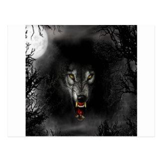 Abstrakter Tierknäuel-Wolf Postkarten