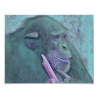 abstrakter Tierschimpanse Photographie