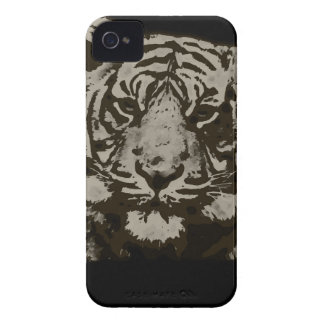 Abstrakter Tiger iPhone 4 Cover