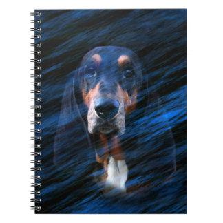 Abstrakter tricolor Dachshund-Jagdhund Notizblock