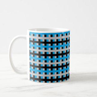 Abstrakter Türkis, Grau und Schwarzes Kaffeetasse
