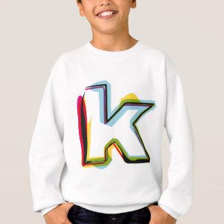 Abstrakter und bunter Buchstabe k Sweatshirt