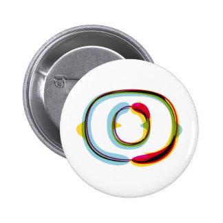 Abstrakter und bunter Buchstabe O Runder Button 5,7 Cm