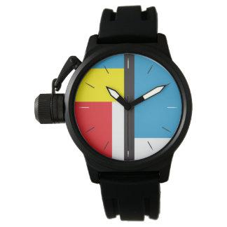 Abstrakter ursprünglicher Entwurf MONDRIAN Armbanduhr