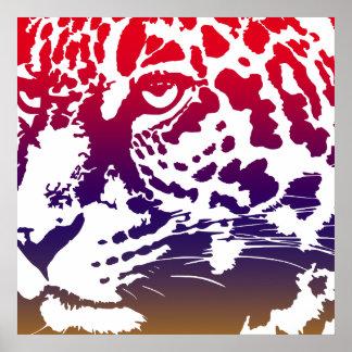Abstrakter Vektor - Leopard Poster