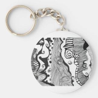 Abstrakter Verstand Schlüsselanhänger