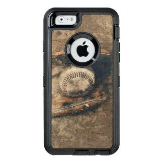 Abstrakter Vintager Baseball OtterBox iPhone 6/6s Hülle