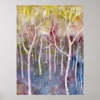 Abstrakter Wald Poster
