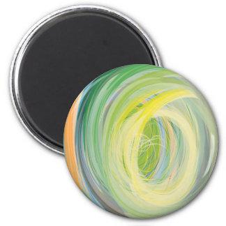 Abstrakter Waschmaschine-Regenbogen Magnete