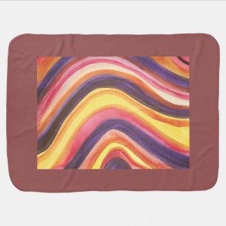 Abstrakter Watercolor, der Streifen kurvt Babydecke