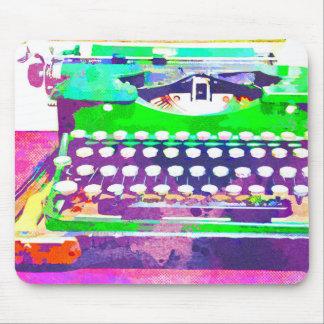 Abstrakter Watercolor - Vintage Schreibmaschine Mousepad