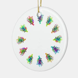 Abstrakter Weihnachtsbaum Keramik Ornament
