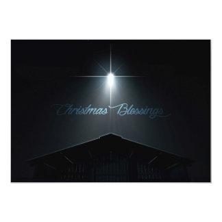 Abstrakter Weihnachtsnativity-Stall und Stern Karte