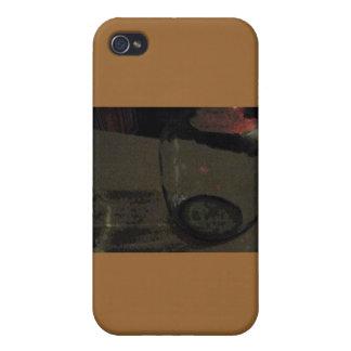 Abstrakter Wein-Krug-TAN-Fall iPhone 4 Case