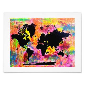 Abstrakter Weltkartendruck Fotodruck