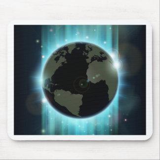 Abstrakter Weltkugel-Raumhintergrund Mauspads