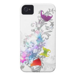 Abstrakter Wirbel und Schmetterlinge iPhone 4 Case-Mate Hüllen