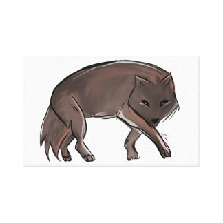 Abstrakter Wolf Leinwanddruck