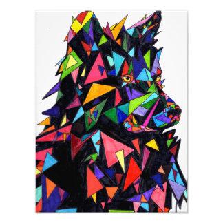 Abstrakter Wolf-Seitenansicht-Druck Fotodruck