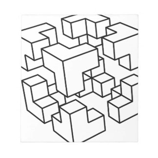Abstrakter Würfel Notizblock