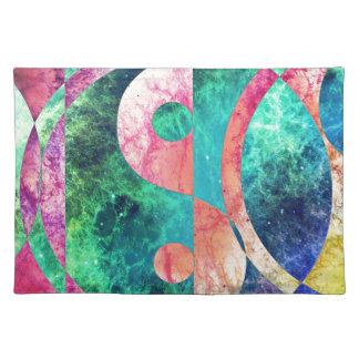 Abstrakter Yin Yang Nebelfleck Stofftischset
