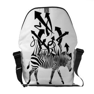 Abstrakter Zebra Kuriertasche