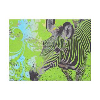 Abstrakter Zebra Leinwanddrucke